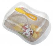 купить Контейнер для хранения сыра с ножом 3 л цена, отзывы
