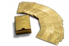 купить Карты игральные 500 евро золото цена, отзывы