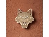 купить Деревянные часы Серый волк цена, отзывы