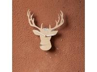 купить Деревянные часы Рогатый олень цена, отзывы