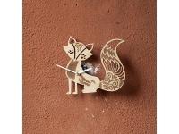 купить Деревянные часы Лиса Патрикеевна  цена, отзывы