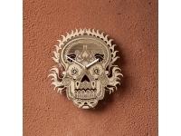 купить Деревянные часы Череп цена, отзывы