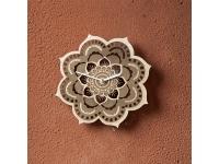 купить Деревянные часы Цветок лотоса цена, отзывы