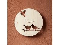 купить Деревянные часы Птички на ветке цена, отзывы