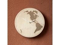 купить Деревянные часы Земля цена, отзывы
