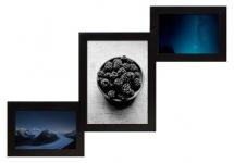 купить Деревянная мультирамка Лесенка Комбо черная на 3 фото  цена, отзывы