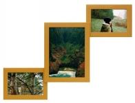 купить Деревянная мультирамка Лесенка Комбо золото на 3 фото цена, отзывы