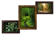 купить Деревянная мультирамка Лесенка Комбо золотой шоколад на 3 фото цена, отзывы
