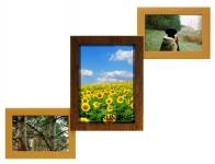 купить Деревянная мультирамка Лесенка Комбо двойное золото на 3 фото цена, отзывы
