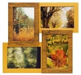 купить Деревянная мультирамка Двойное золото на 4 фото цена, отзывы