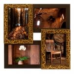 купить Деревянная мультирамка Золотой шоколад на 4 фото цена, отзывы