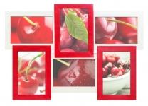купить Деревянная мультирамка Красное и белое на 6 фото цена, отзывы