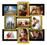 купить Деревянная мультирамка Золотое мерцание на 9 фото цена, отзывы