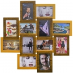купить Деревянная мультирамка Палермо двойное золото на 12 фото цена, отзывы