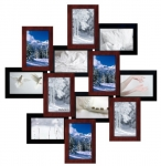 купить Деревянная мультирамка Зигзаг медное мерцание на 12 фото цена, отзывы