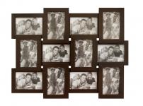 купить Деревянная мультирамка Венге шоколад на 12 фото цена, отзывы