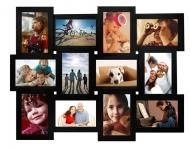 купить Деревянная мультирамка черная на 12 фото цена, отзывы