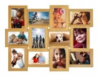 купить Деревянная мультирамка золото с рельефной отделкой на 12 фото цена, отзывы