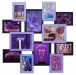 купить Деревянная мультирамка Путишественник фиолетовая на 12 фото цена, отзывы