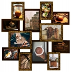 купить Деревянная мультирамка Путишественник золотой шоколад на 12 фото цена, отзывы