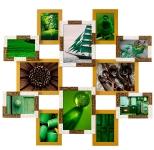 купить Деревянная мультирамка мерцание на 12 фото цена, отзывы