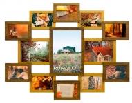 купить Деревянная мультирамка Симметрия двойное золото на 13 фото цена, отзывы