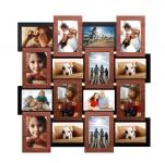 купить Деревянная мультирамка Медное мерцание на 16 фото цена, отзывы