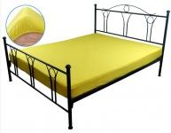 купить Простынь трикотажная на резинке желтая 160х200 см цена, отзывы