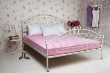 купить Простынь трикотажная на резинке розовый 160х200 см цена, отзывы