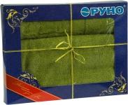 купить Набор махровых полотенец оливкового цвета цена, отзывы