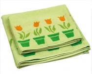 купить Махровое жаккардовое полотенце салатовое 70х140 см цена, отзывы