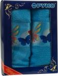 купить Набор кухонных махровых голубых полотенец 2 шт цена, отзывы