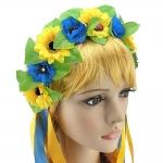 купить Украинский венок Ганнуся (желто-голубой) цена, отзывы