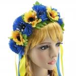 купить Украинский венок Ярина (желто-голубой) цена, отзывы