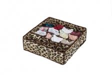 купить Органайзер для белья без крышки 24 отделения Гепардовый цена, отзывы
