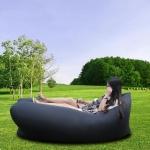 купить Надувное кресло-лежак черное цена, отзывы
