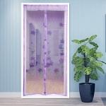 купить Антимоскитная сетка на раздельных магнитах от комаров фиолетовая 210х100 см цена, отзывы