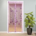 купить Антимоскитная сетка на раздельных магнитах от комаров розовая 210х100 см цена, отзывы