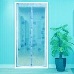 купить Антимоскитная сетка на раздельных магнитах от комаров голубая 210х100 см цена, отзывы