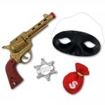 купить Набор Дикий запад (значок шерифа, черная маска, пистолет) цена, отзывы