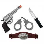 купить Набор Ковбоя большой (пистолет, нож, наручники, пояс) цена, отзывы