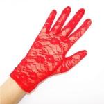 купить Перчатки гипюровые короткие (красные) цена, отзывы