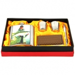 купить Подарочный набор Фляга с изображением рыбака с рыбой карп цена, отзывы