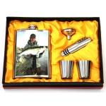купить Подарочный набор Фляга с изображением рыбака с судаком цена, отзывы