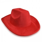 купить Шляпа Ковбоя велюровая (красная) цена, отзывы