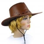 купить Шляпа Ковбоя кожа (коричневая) цена, отзывы