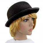 купить Шляпа Котелок фетровый (черный) цена, отзывы