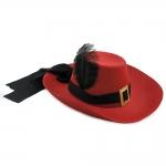 купить Шляпа Мушкетера с пером (красная) цена, отзывы