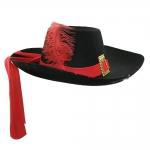 купить Шляпа Мушкетера с пером (черная) цена, отзывы