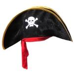 купить Шляпа Пирата с красной повязкой велюр цена, отзывы